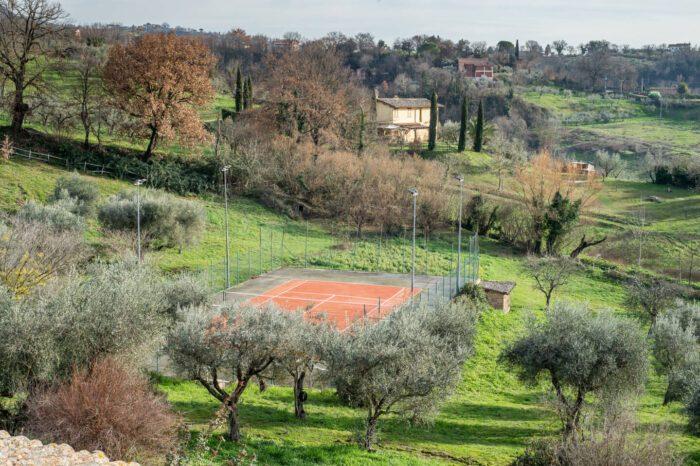 campo da tennis la belle evoque vista